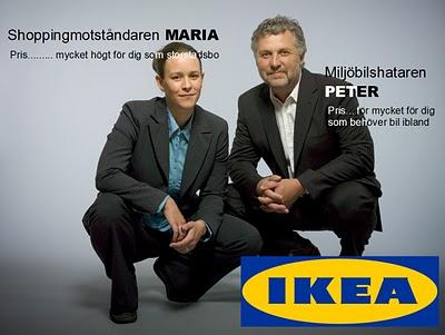 IKEA-annons med 'Maria' och 'Peter'