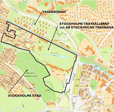 kartbild över Solvalla med omgivningar